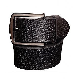 Black Genuine Leather Gents Belt CPSBTSK40012SBLK34