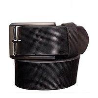 Black Genuine Leather Gents Belt (CPSBTSK35010SBLK34)