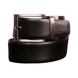 Black Genuine Leather Gents Belt CPSBTRK35002R34
