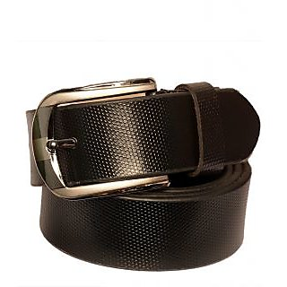 Black Genuine Leather Gents Belt CPSBTSK35009SBLK34