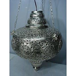 Silver Antique Chandelier with cut design