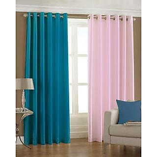 Homefab India Set Of 2 Multi-Colour Long Door(8X4)Curtains(HF168)