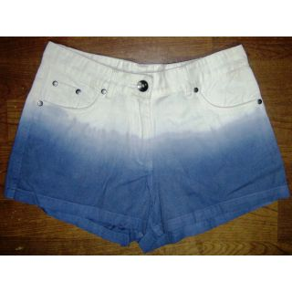 Ladies Denim Shorts With Ambre Effect