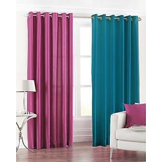 Homefab India Set Of 2 Multi-Colour Long Door(8X4)Curtains(HF170)