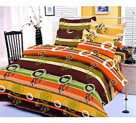 Zigma Collections Color of Dream 100 Cotton Double Bedsheet