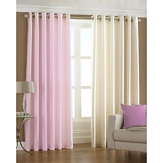 Homefab India Set Of 2 Multi-Colour Window(6X4)Curtains(HF171)