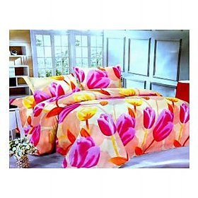 Zigma Collections Color of Dream 100% Cotton Double Bedsheet