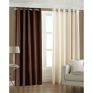 Homefab India Set Of 2 Multi-Colour Door(7X4)Curtains(HF172)
