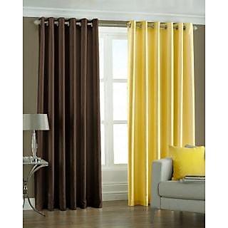 Homefab India Set Of 2 Multi-Colour Long Door(8X4)Curtains(HF173)
