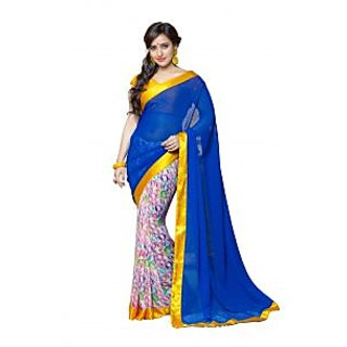 Rajpramila Creature Black Brocade Self Design Saree With Blouse