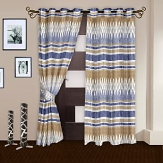 StoryHome Cream Nature 2 pc Door curtain-DNR2066