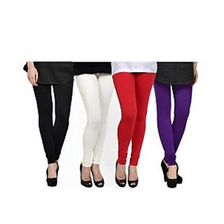 Kjaggs Multi-Color Cotton Lycra Full length legging (KTL-FR-1-2-3-7)
