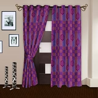 StoryHome Purple Door Curtain Nature-DNR2058