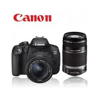 CANON EOS700D COMBO-18-55MM is ii LENS+ 55-250MM IS LENS+ 8GB CARD+CASE