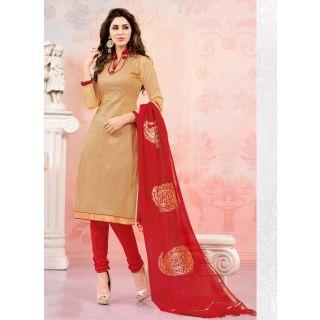 Swaron Blue Polycotton Lace Salwar Suit Dress Material (Unstitched)