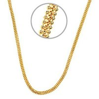 Gold Plated Two Lined Beaded Chain