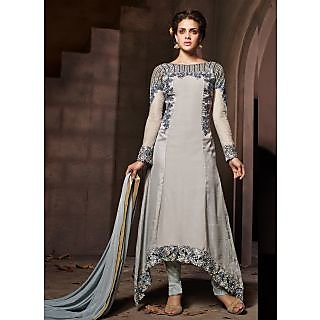 Swaron Grey coloured Georgette Salwar Suit 200D7005