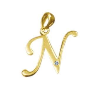 Buy Kaara Alphabet N Diamond Gold Pendant San N Online