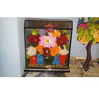Decorative Plastic Flowers Multicolor