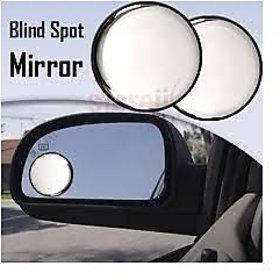 Car Blind Spot Convex  Side Rear View Mirror Black  Corner