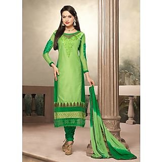 Swaron Green coloured Mix Cotton Salwar Suit 201D1005