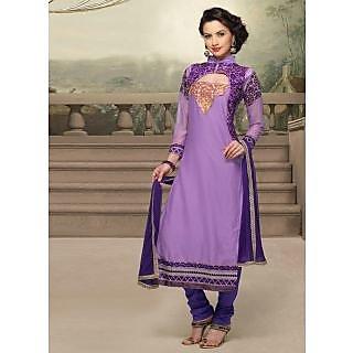 Swaron Purple coloured Mix Cotton Salwar Suit 201D1007