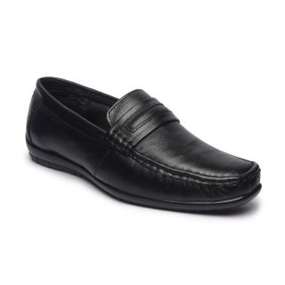 Genuine Leather Black Formal Shoes 017