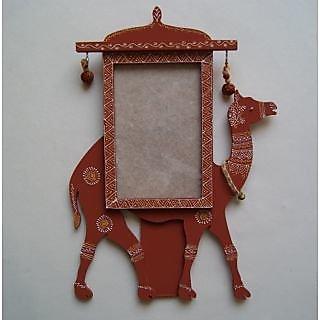 Photo Frame wooden traditional rajasthani camel shape