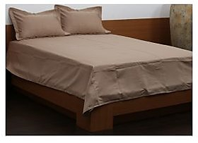 Arunachala BROWN Double Bed Spread 2 pillow case