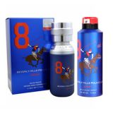 Beverly Hills Polo Club Sport No 8 Men Edt 50 Ml & No 8 Deodorant Men 175 Ml