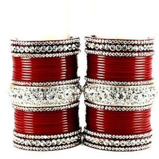personalized acrylic bangles set colour red  size-2.4,2.6,2.8,2.10