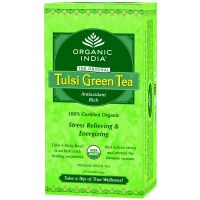 Organic India TULSI GREEN TEA 2 Packets 25 Tea Bags Each