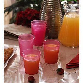 Tumblers/Glasses-Incrizma Multipurpose Glass 6 Pc Set - Pink