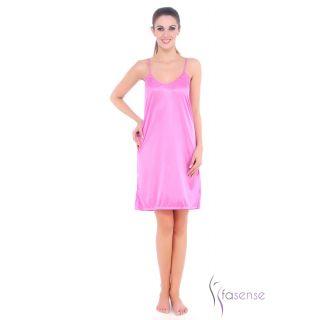 Fasense Women Satin Slip Nightwear Short Nighty (Move) DP059 C