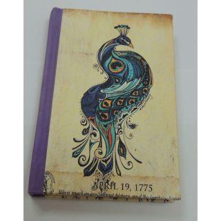 Peacock Digital printed Handmade Paper Diary