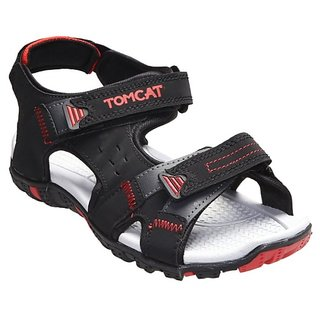 Tomcat Men's Red & Black Velcro Floaters