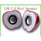 Half Apple Shaped USB Powered 2.0 Multimedia Speakers For PC Laptop Mp3 Phones