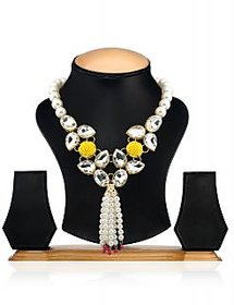 Ethnic Jewels White Alloy Necklace (ey-391)