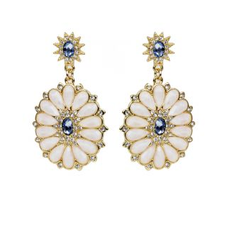 The Pari White Drop Earring (Fny-924)