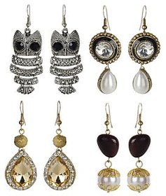 The Pari Non Plated Multicolor Alloy Hangings For Women (Combo)
