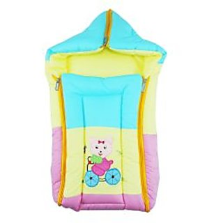 Ole Baby Three in One Icecream Sandwich Reversible Carry Nest Cum Sleeping Bag with Hood