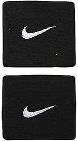 Sports Cotton Wrist Band Supporter Sweat Band (Black in Color)