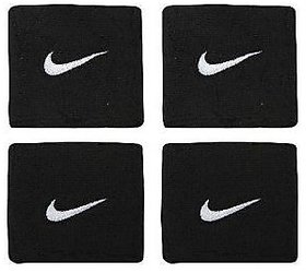 2 Sets (4 Pcs) of Sports Cotton Wrist Band Suppoter Sweat Band - BLACK in COLOUR