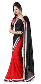 Swank Multicolor Linen Embroidered Saree With Blouse