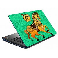 Mesleep Green Horse Laptop Skin LS-05-19
