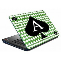Mesleep Green Card Ace Laptop Skin LS-05-35