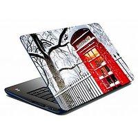 Mesleep Snow Telephone Booth Laptop Skin LS-05-52