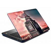 Mesleep Pink Clock Tower Laptop Skin LS-05-49