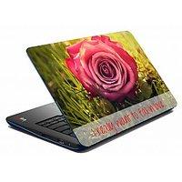Mesleep Pink Rose Laptop Skin  LS-08-39