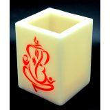 Aero Flameless WAX LED Candle Realistic Flickering - Lord Ganesha